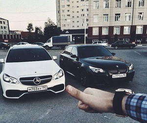 bmw, car, and mercedes image