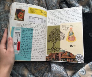 art, book, and color image