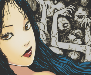 horror, japan, and junji image