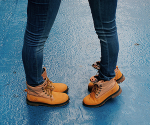 shoes, couple, and girl image