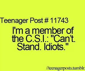 idiots and teenager post image