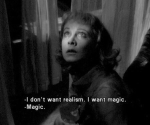 magic, quotes, and black and white image