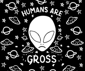 alien, gif, and space image