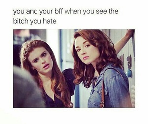 funny, teen wolf, and bff image