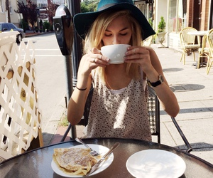 girl, coffee, and style image
