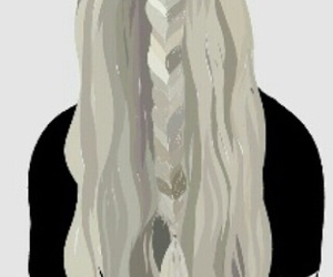 art, braided hair, and girl image
