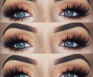 eyebrows, eyeshadow, and lipstick image
