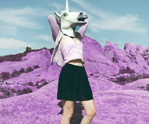 unicorn, grunge, and pink image