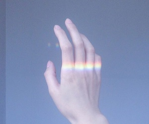 rainbow, aesthetic, and pale image