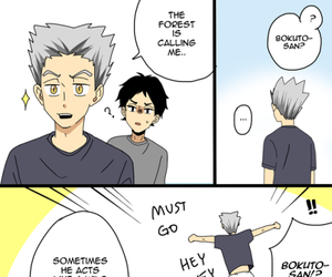 haikyuu, anime, and bokuto image