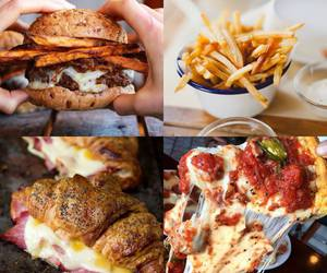 Collage, delicious, and fastfood image