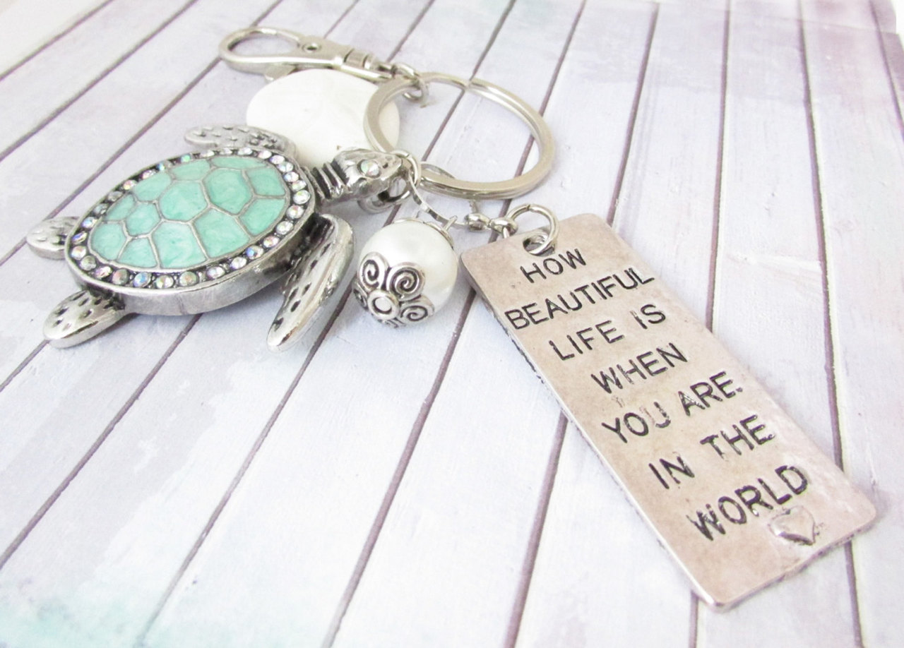 etsy, car accessories, and beach keychain image