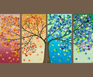 leaves, pretty, and paint image