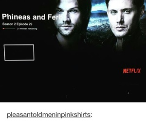 supernatural, funny, and phineas and ferb image