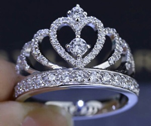 ring, princess, and crown image