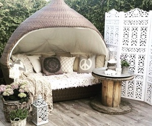 garden, boho, and chill image