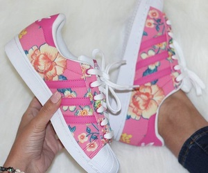 adidas, flowers, and girly image