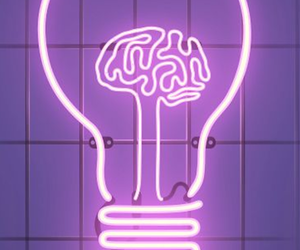 neon, purple, and brain image