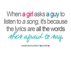 girl, song, and boy image