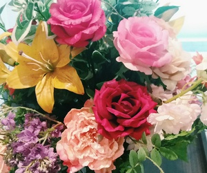 bouquet, colorful, and flower image