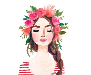 art, boho, and flowers image