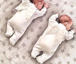 baby, angel, and twins image