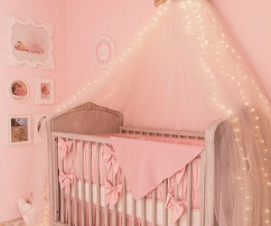 baby, bedroom, and pink image