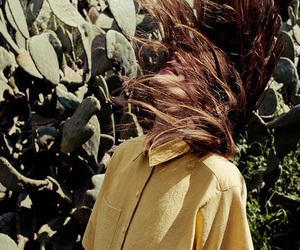 girl, hair, and cactus image