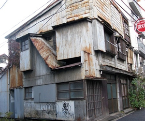 building, japan, and street image