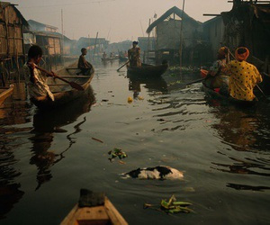 boats, market, and people image