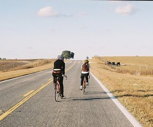 bike, road, and friends image