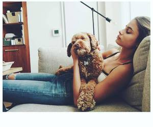 taylor hill and dog image