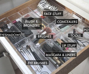 Brushes, care, and cosmetics image