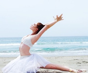ballet, dancers, and beach image