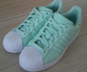mint green, shoes, and adidad image