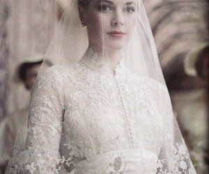 grace kelly, wedding, and bride image