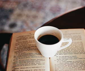 book, coffee, and indie image