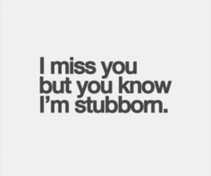 stubborn, quote, and miss image