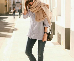 style, fashion, and scarf image