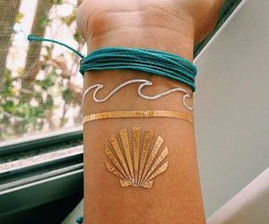 tattoo, waves, and summer image