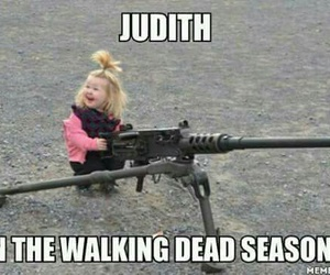 funny, judith, and the walking dead image