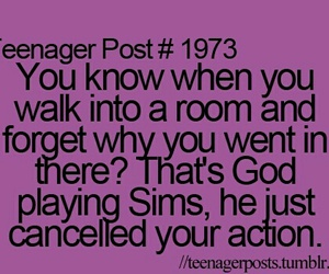 sims, god, and teenager post image