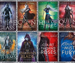 book, novel, and throne of glass image