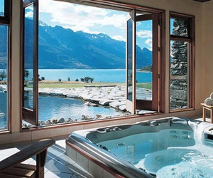 luxury, house, and water image