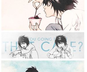 death note, L, and sweet image