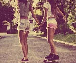 friends, girl, and skate image
