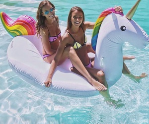 unicorn, summer, and friends image