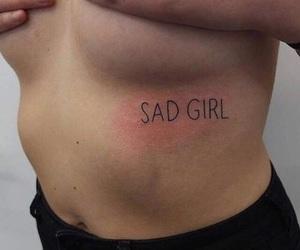 tattoo, sad, and sad girl image