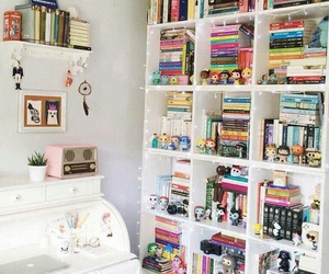 book case and books image