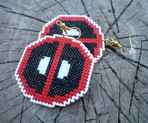 cross stitch, deadpool, and etsy image